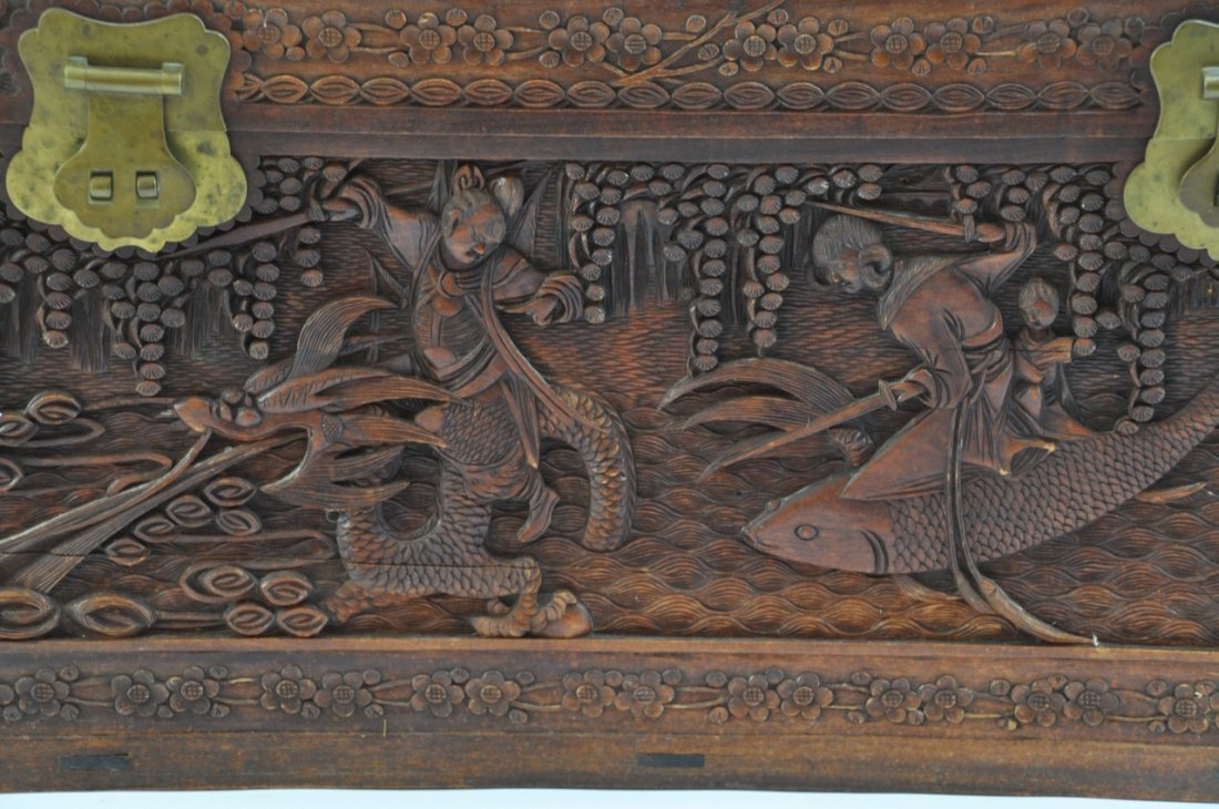 Chinese Extra Large Camphor Wood Trunk - 4