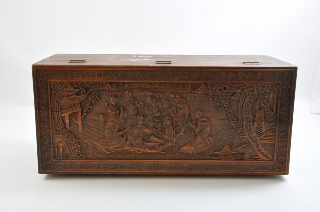 Chinese Extra Large Camphor Wood Trunk - 6