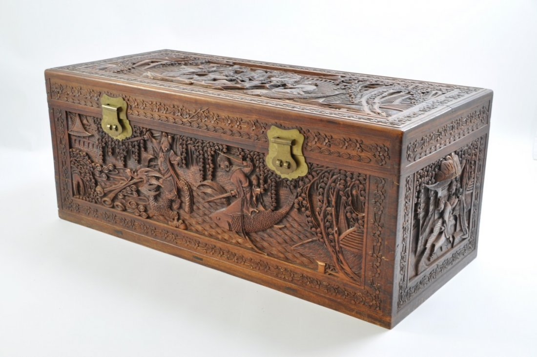 Chinese Extra Large Camphor Wood Trunk - 7