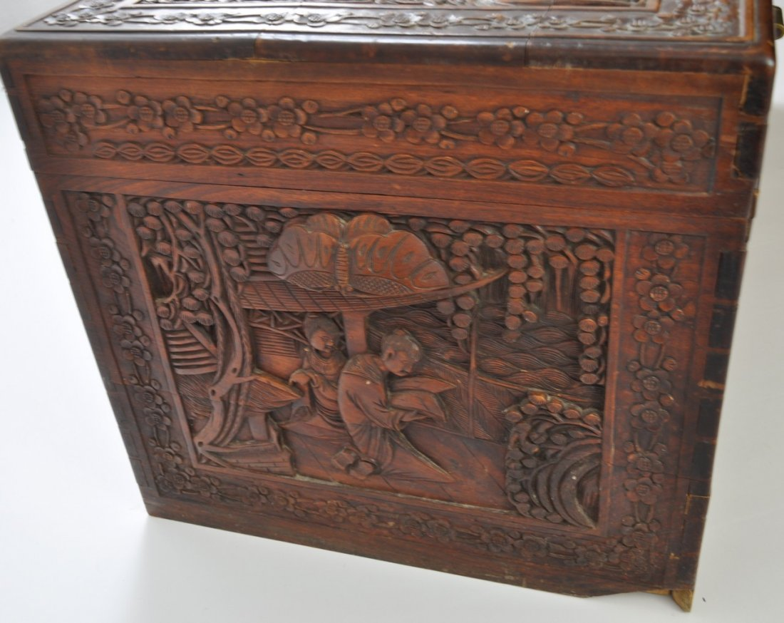 Chinese Extra Large Camphor Wood Trunk - 9