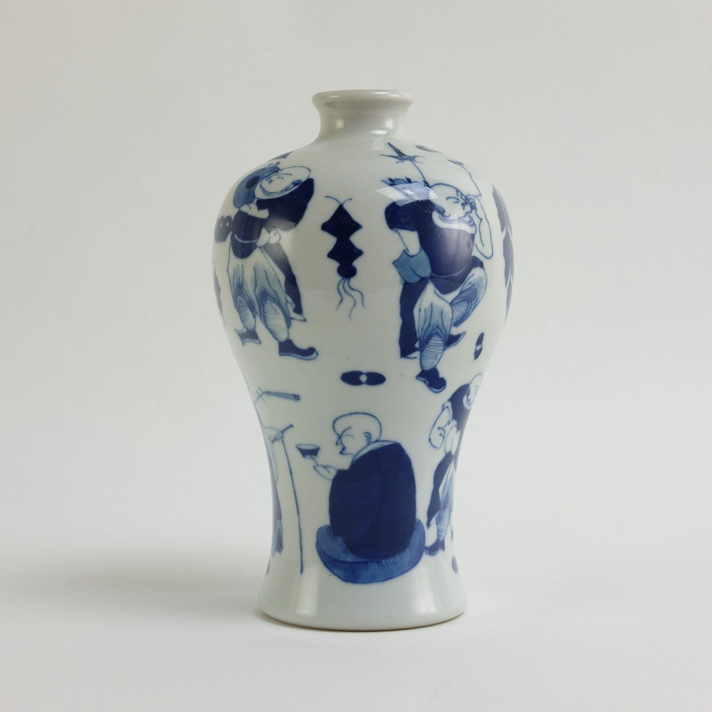 Chinese Blue-white Meiping - 4