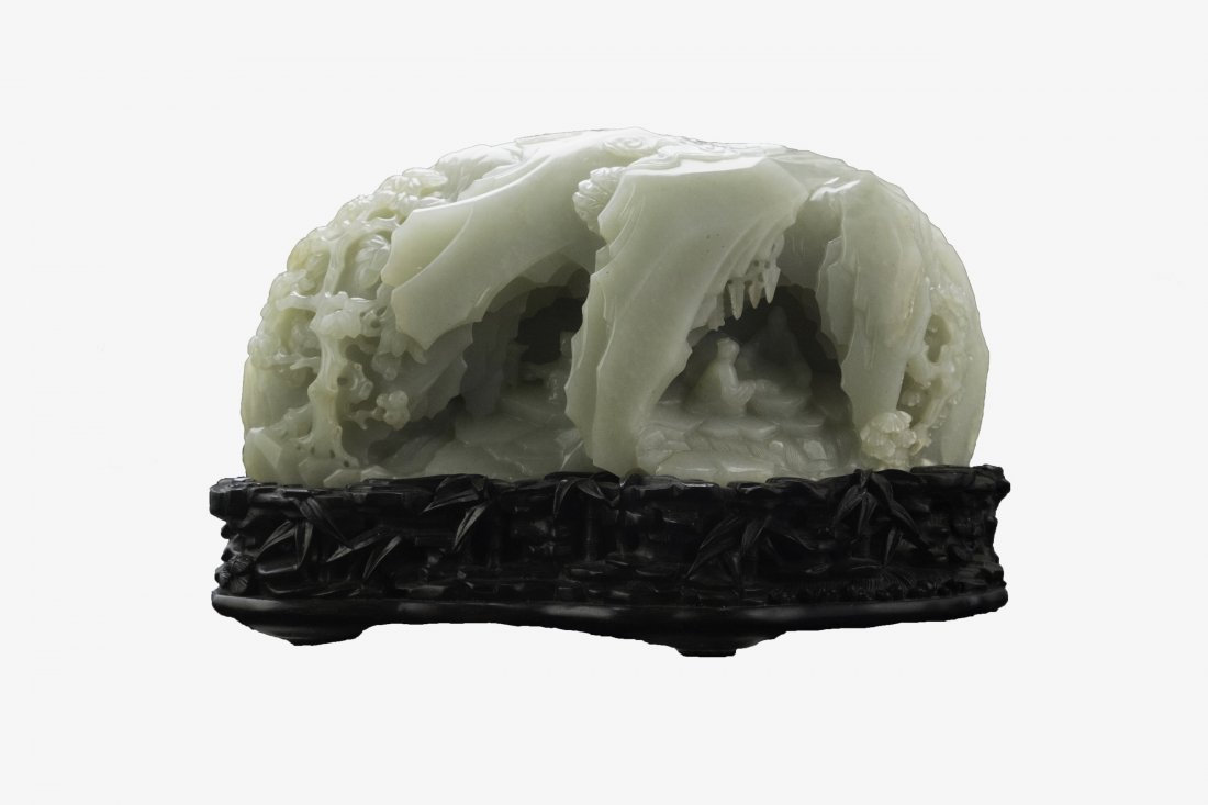 Chinese Extra Large Imperial Jade Boulder特