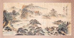 CHINESE SCROLL PAINTING BY SHEN,ZHOU