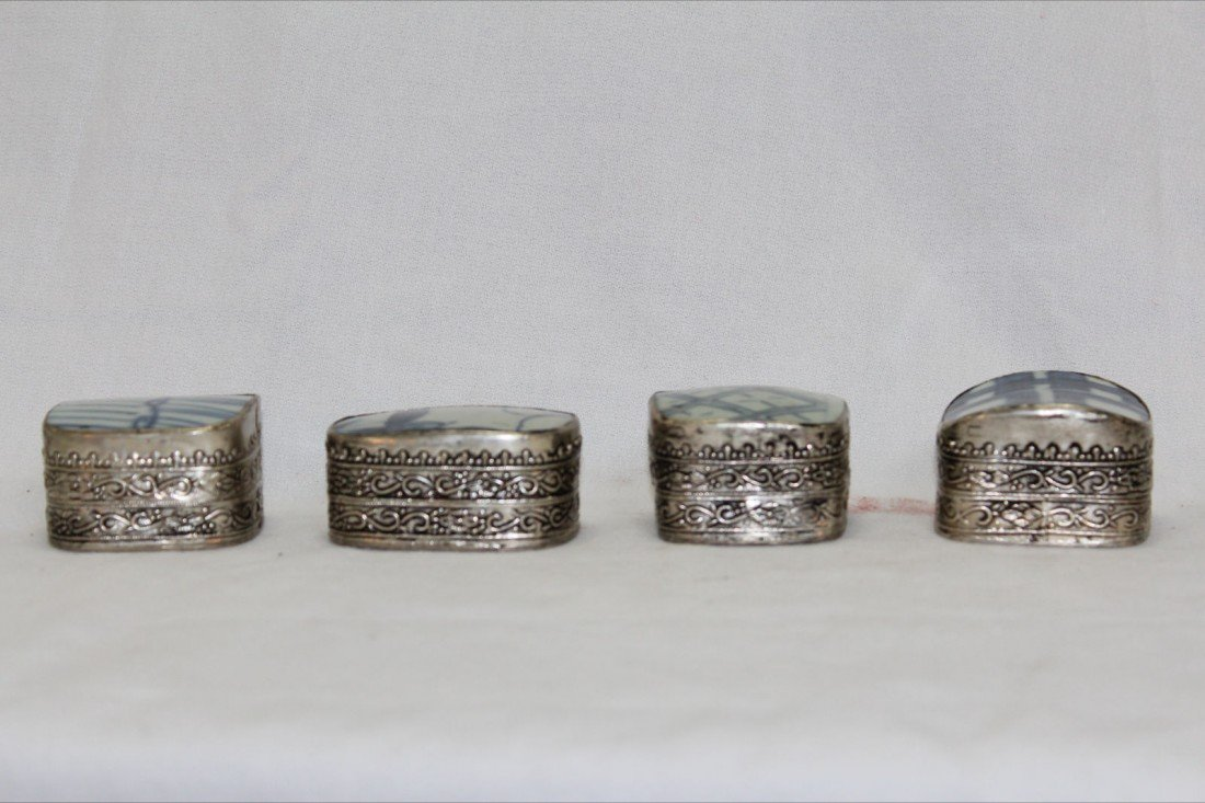 1005: VERY FINE CHINESE SONG PORCELAIN & SILVER BOXES