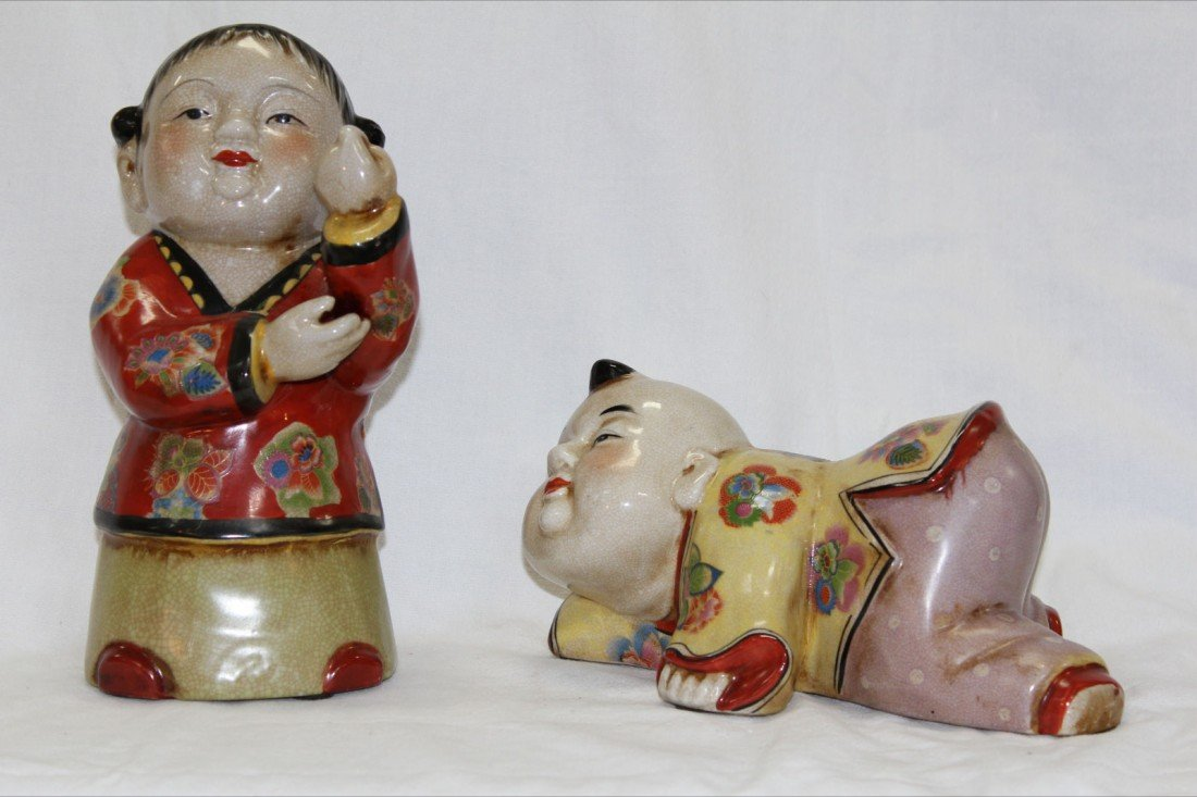 1006: CHINESE PORCELAIN FIGURES