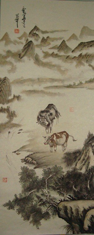 3023: VERY FINE CHINESE SCROLL PAINTING