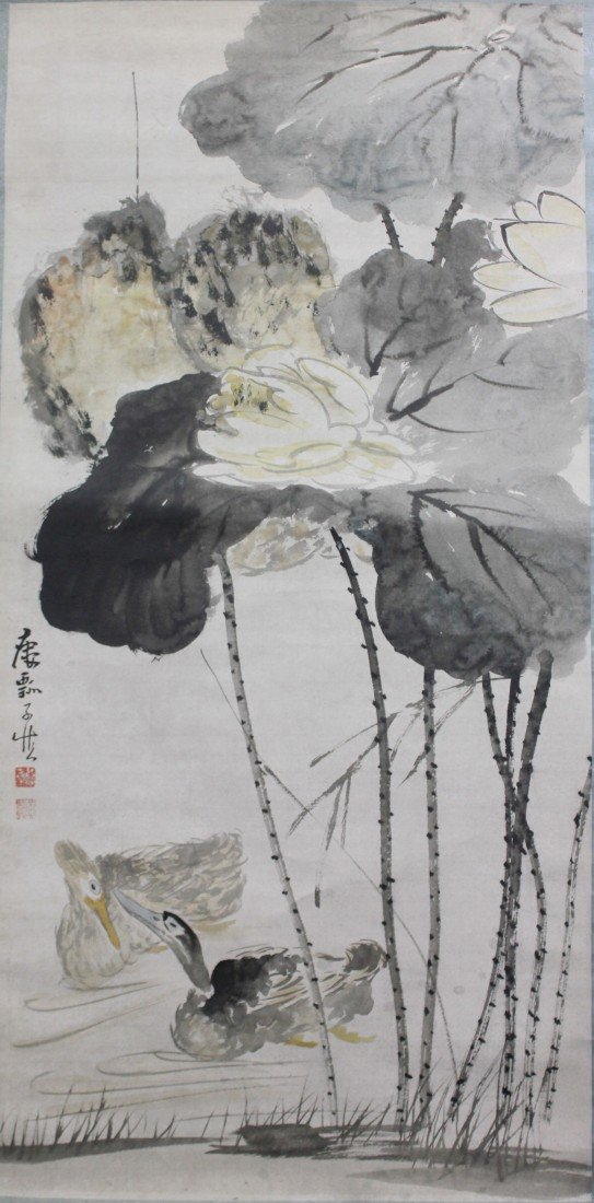 5003: A Very fine Chinese scroll painting