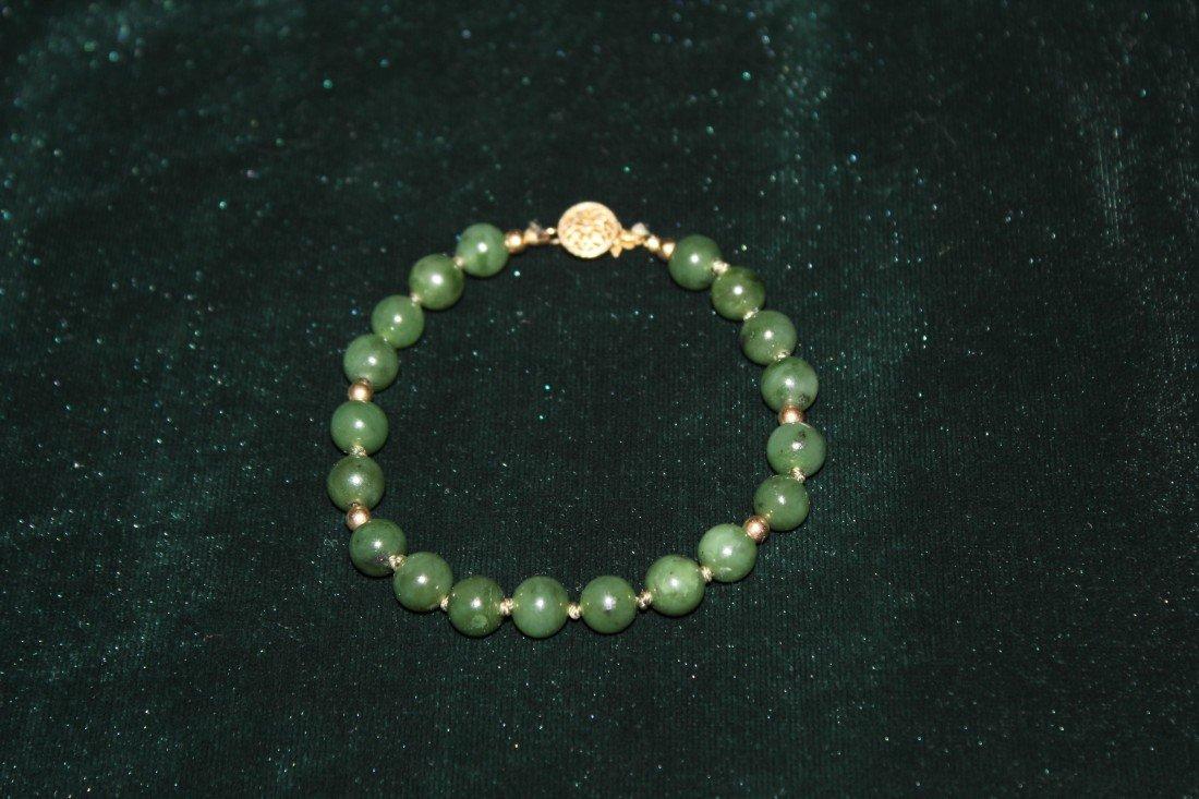 5010: Chinese jadeite beaded bracelet