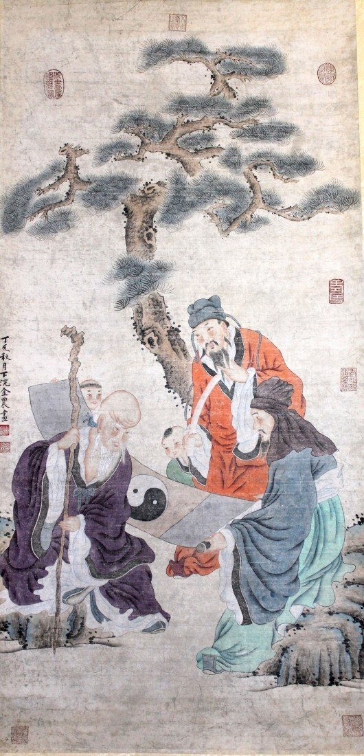 5022: A very fine Chinese scroll painting
