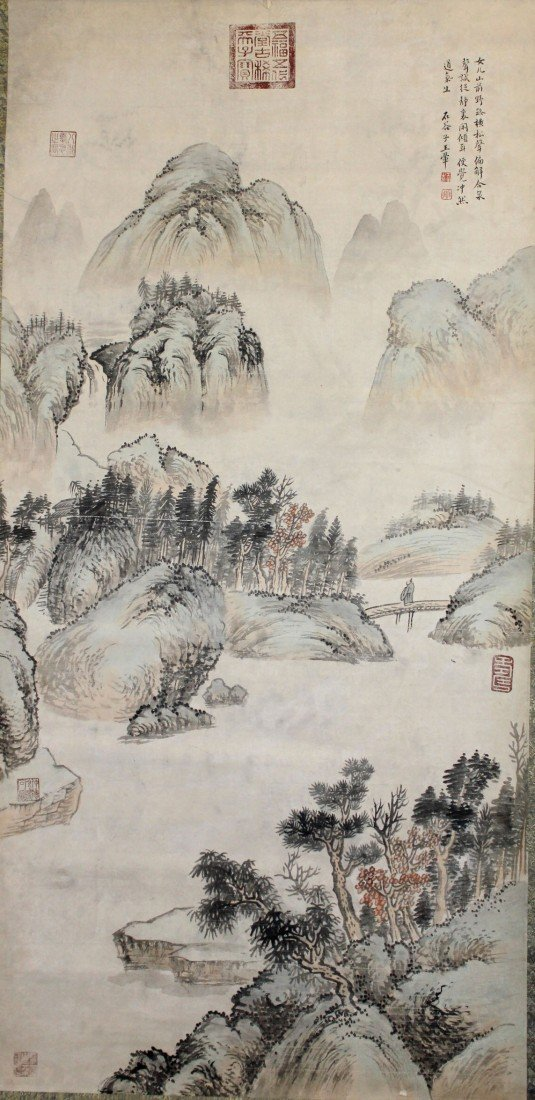5023: A very fine Chinese scroll painting attributed to