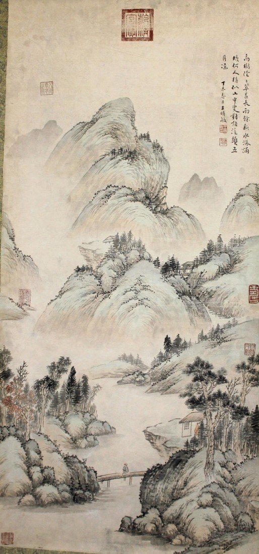 5032: A very fine Chinese scroll painting
