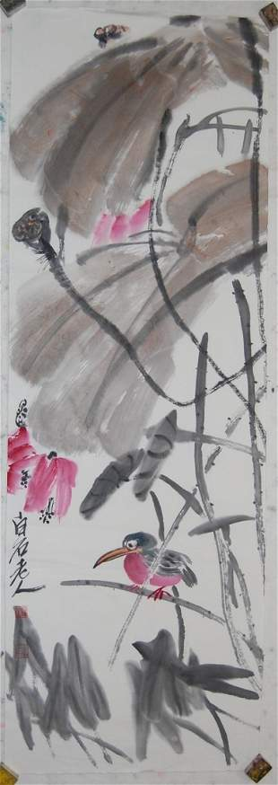 A fine Chinese painting attribued to Qi,Baishi