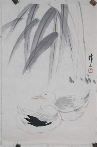 A very fine Chinese painting by Wu,Zuoren