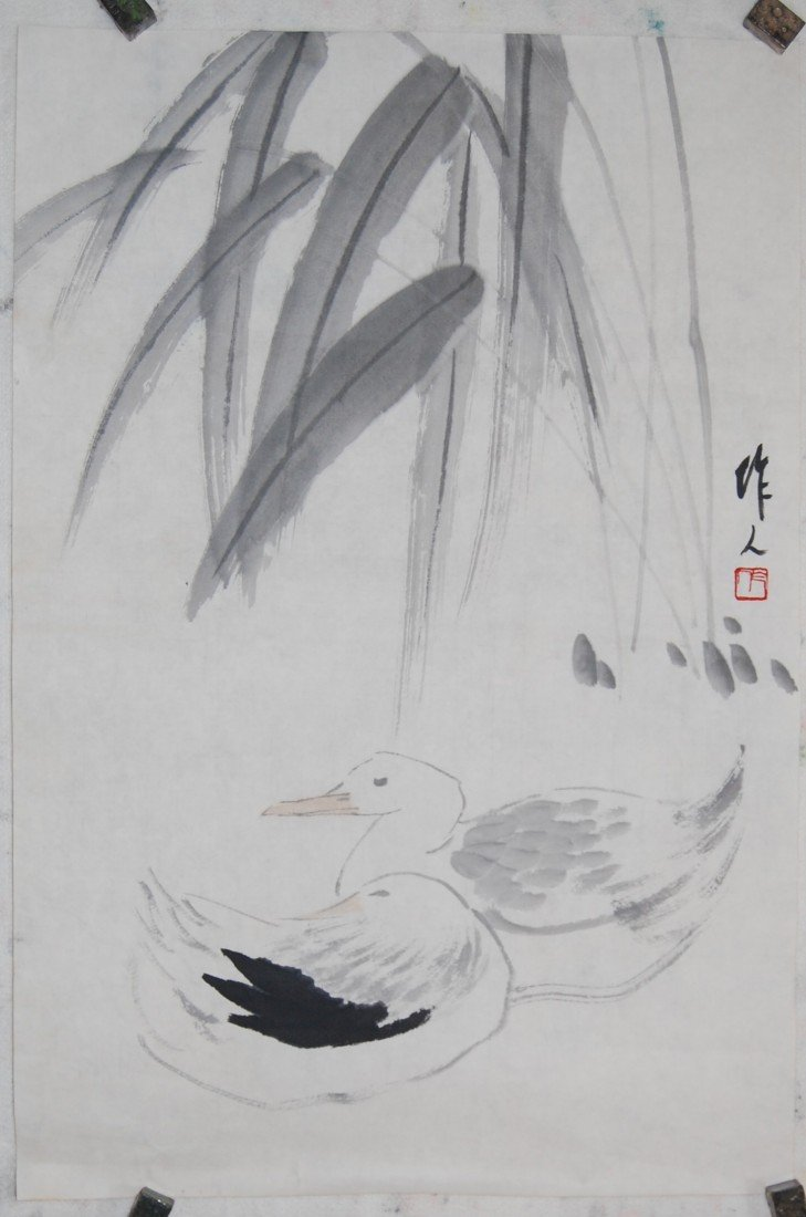 4021: A very fine Chinese painting by Wu,Zuoren