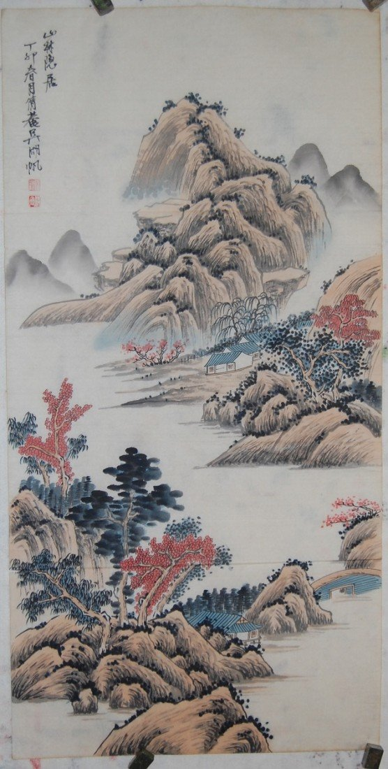 4050: A very fine Chinese painting by Wu,Hufan