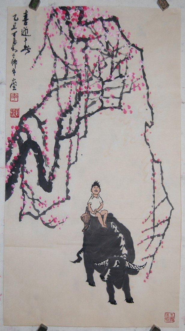4056: A very fine Chinese painting by LI,Keran