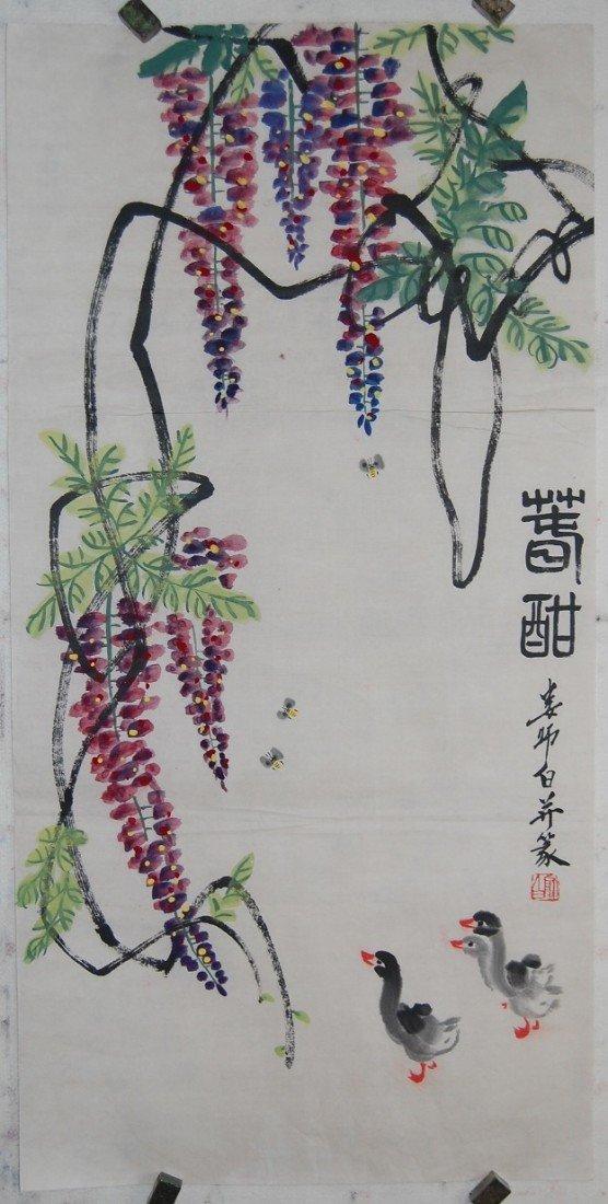 4063: A very fine Chinese painting by Liu,Shibai