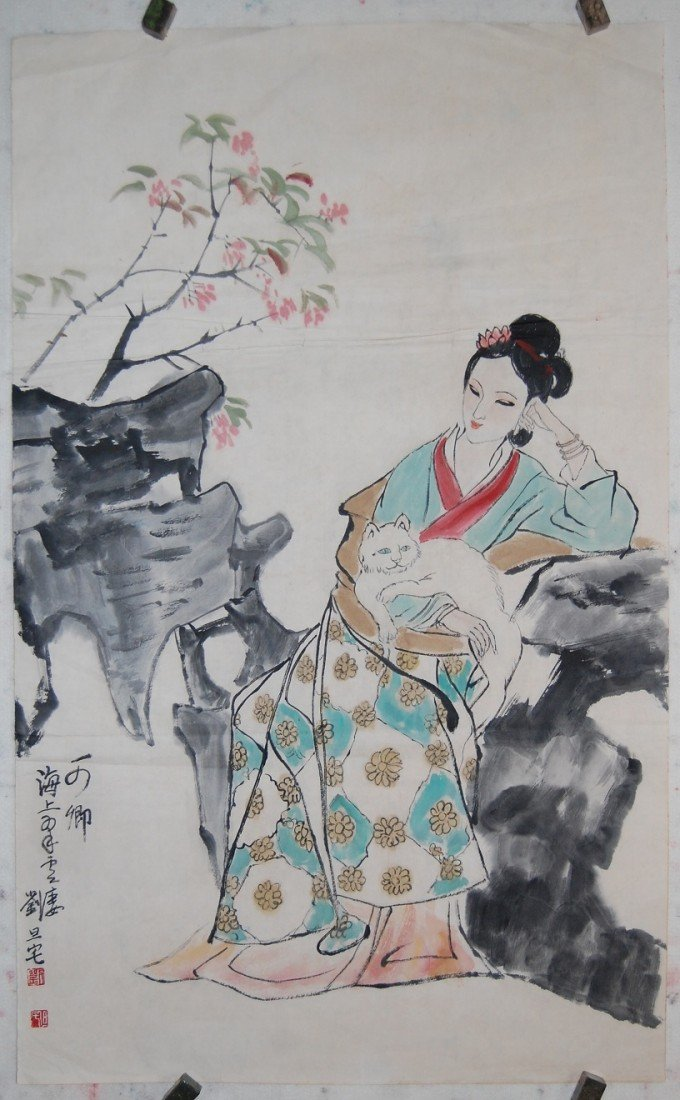4067: A very fine Chinese painting by Liu,Danzhai