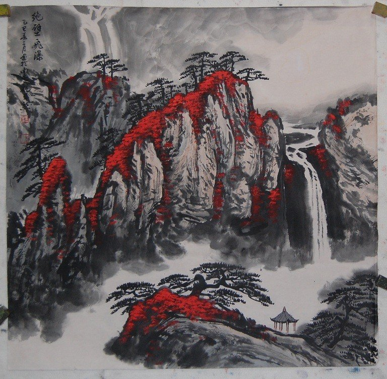 4071: A fine Chinese painting attributed to Wei,Zhi Xi