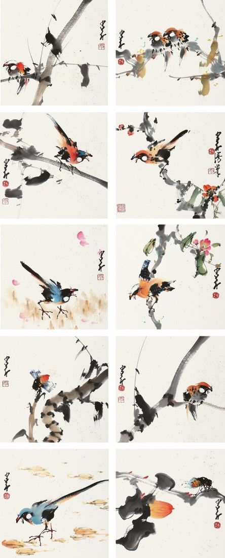 A very fine Chinese painting by Zhao Shaoang
