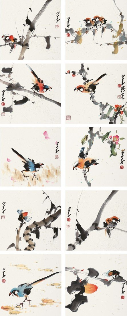 4193: A very fine Chinese painting by Zhao Shaoang