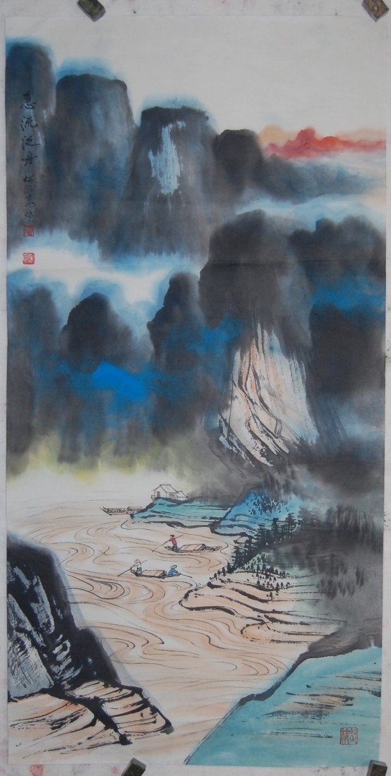 3312: Very fine Chinese painting by He,Haixia