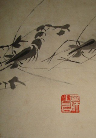 3373: Very fine Chinese painting by After Qi,Baishi - 2