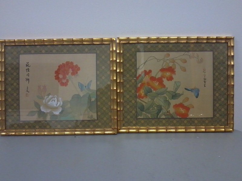 6011: Pair of  framed  Chinese paintings