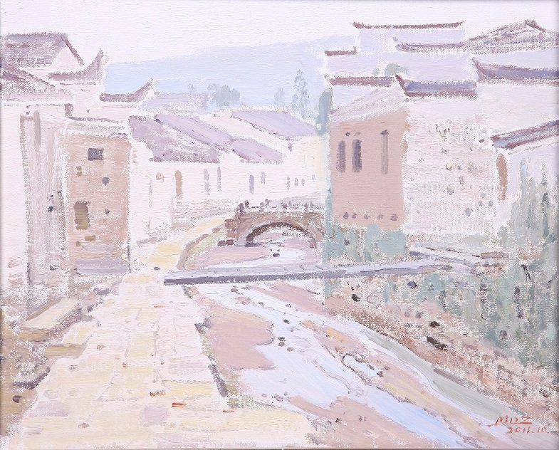 6020: Chinese oil painting by Mao Daizong