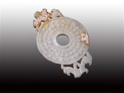 6374: Finely Carved Chinese  ritual  disc