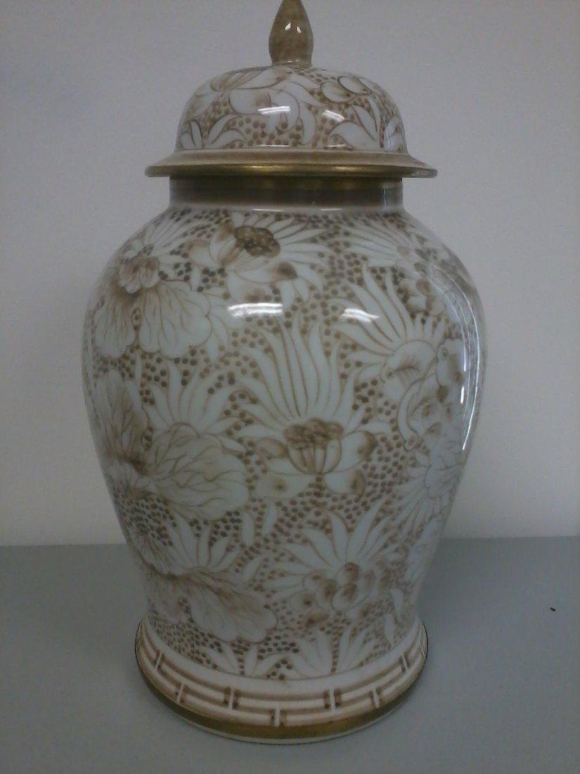 7005: Very fine Thailand porcelain ginger jar