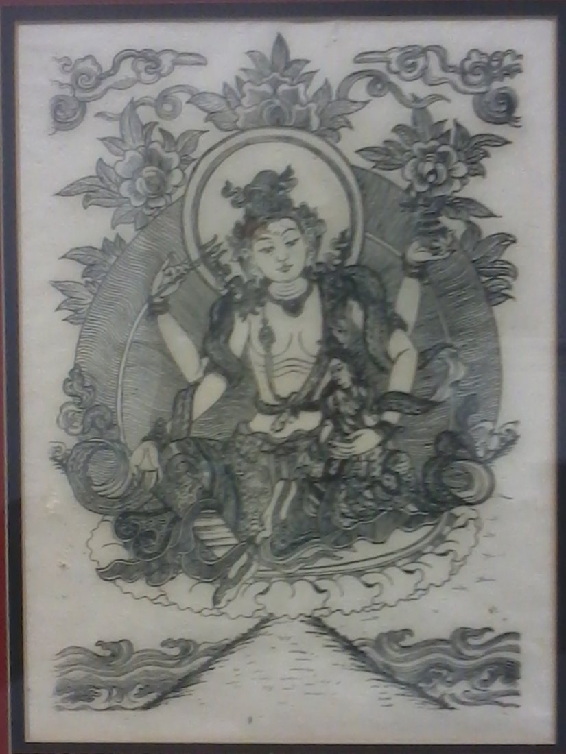 7018: Very fine Chinese painting  in a frame
