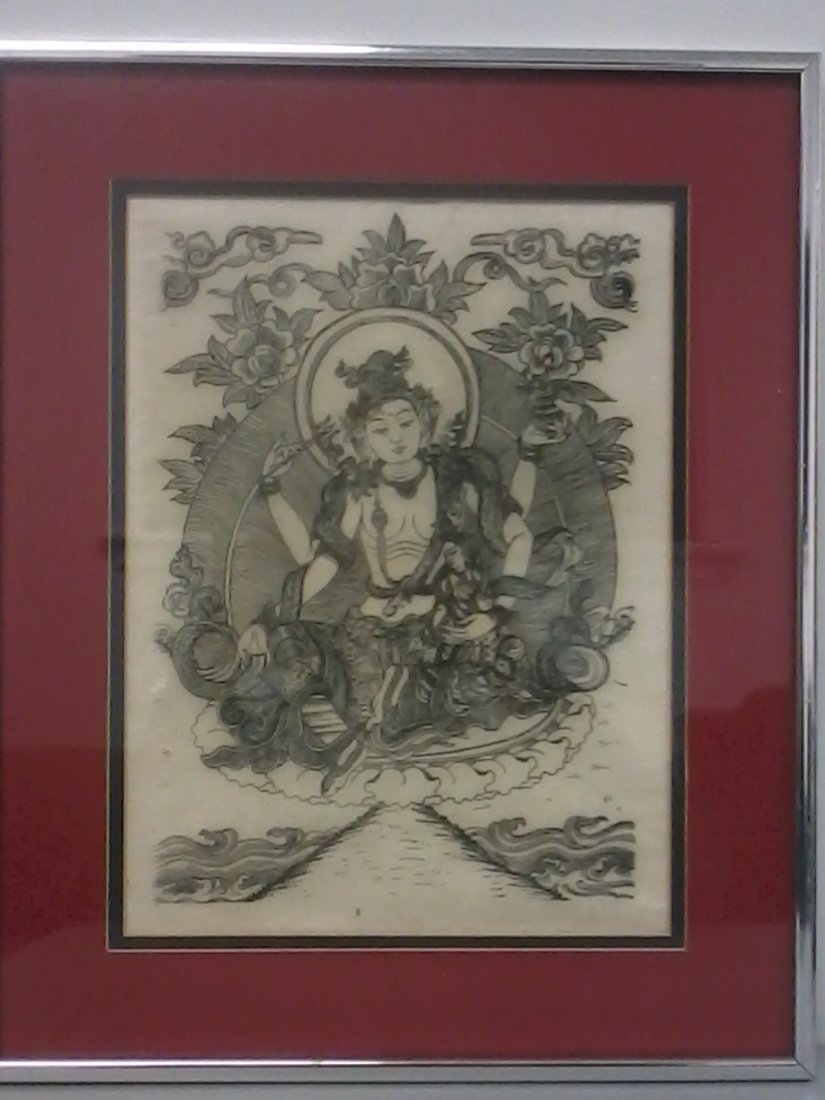 7018: Very fine Chinese painting  in a frame - 2