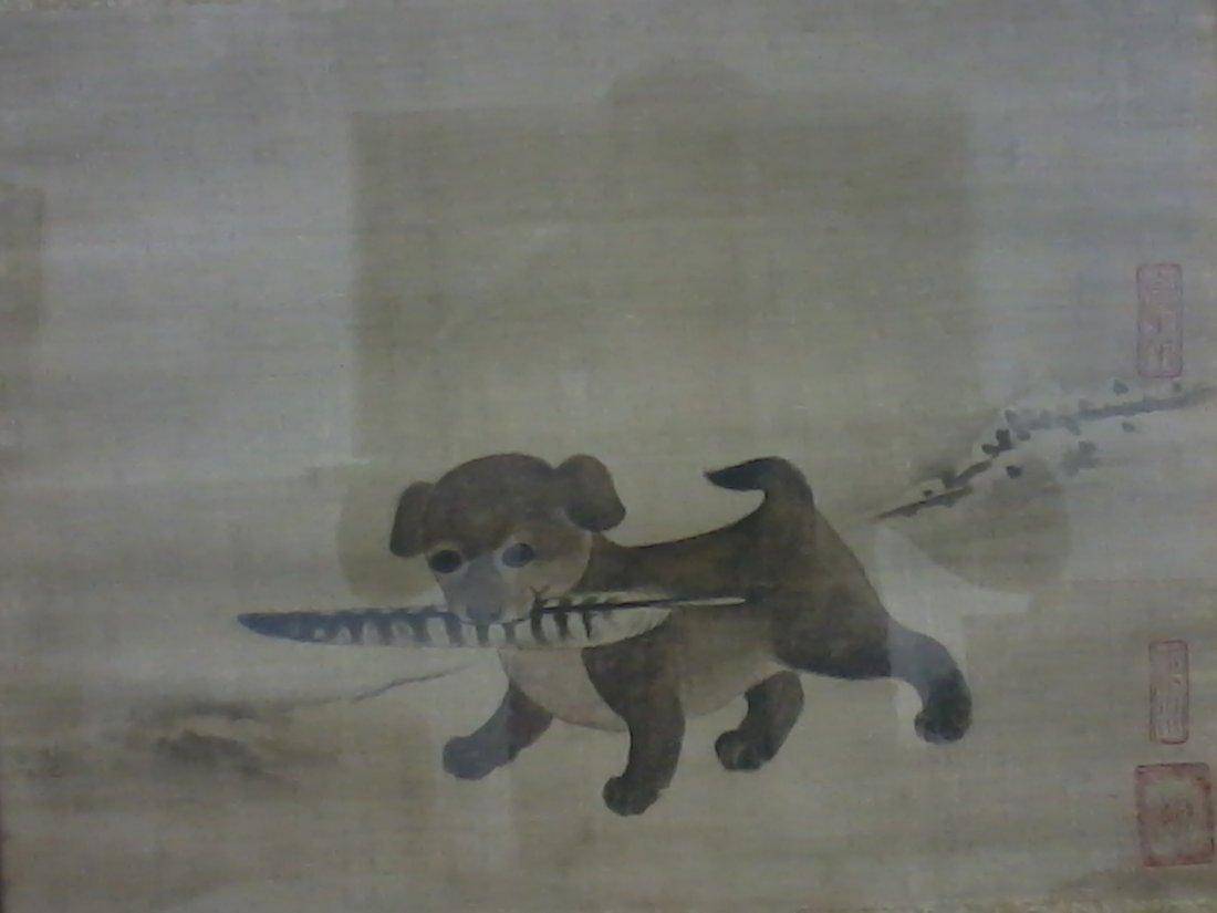 7019: A very fine korean watercolor on silk