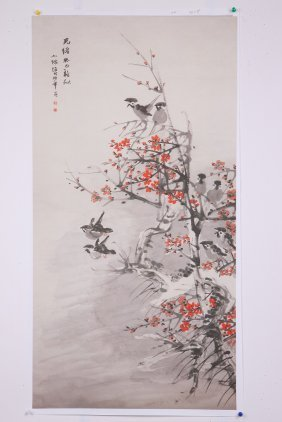 A Very Fine Chinese Painting By Ren Bonian