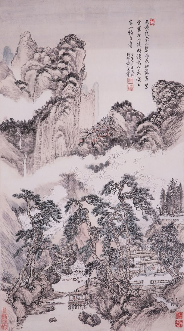 7070: Very fine Chinese painting attributed to Wang Hui