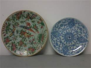 Pair of Asian porcelain plates