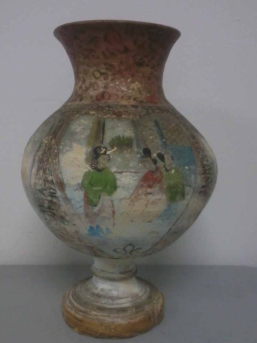 6004: Very finely carved Chinese  pot