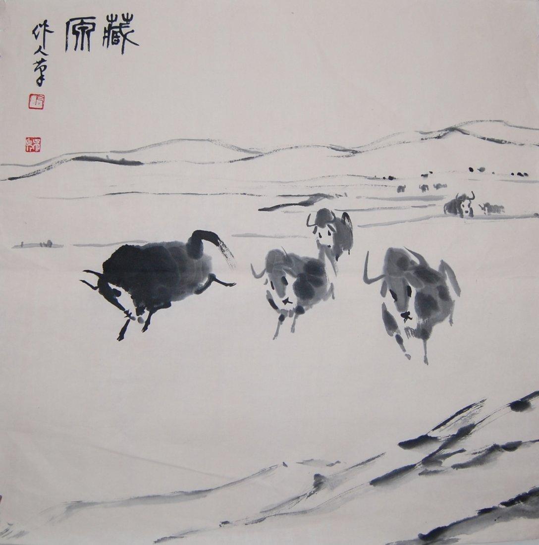 6058: A very fine Chinese by Wu Zuoren