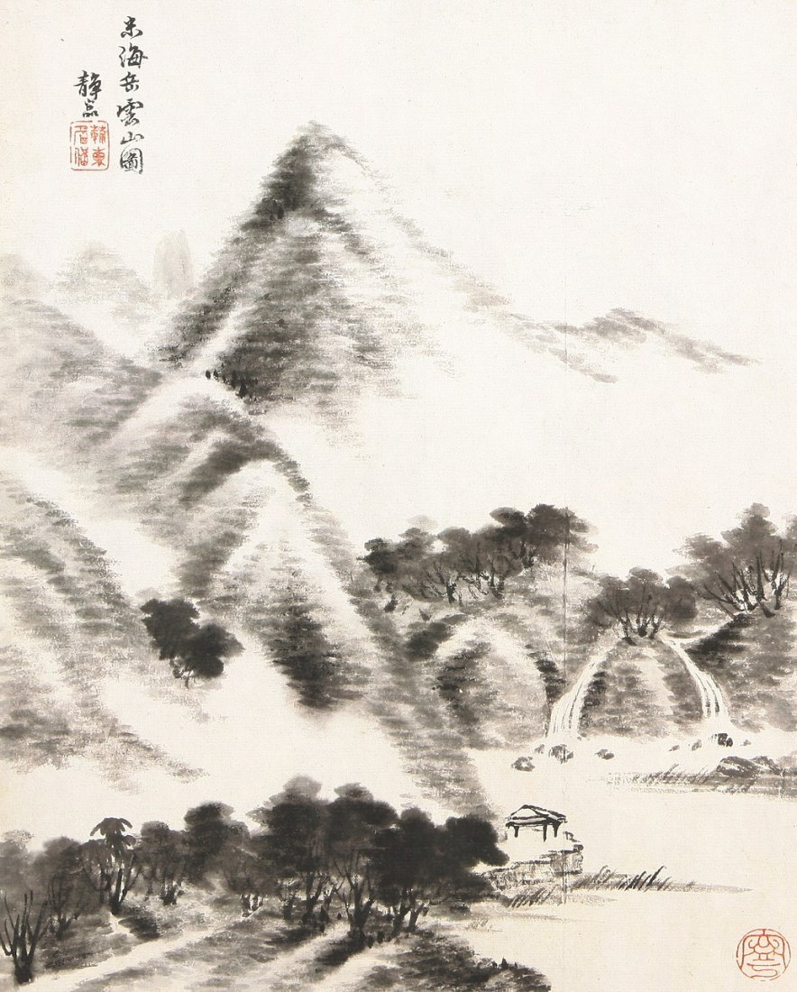 7003A: A very fine Chinese painting by Tang Dai