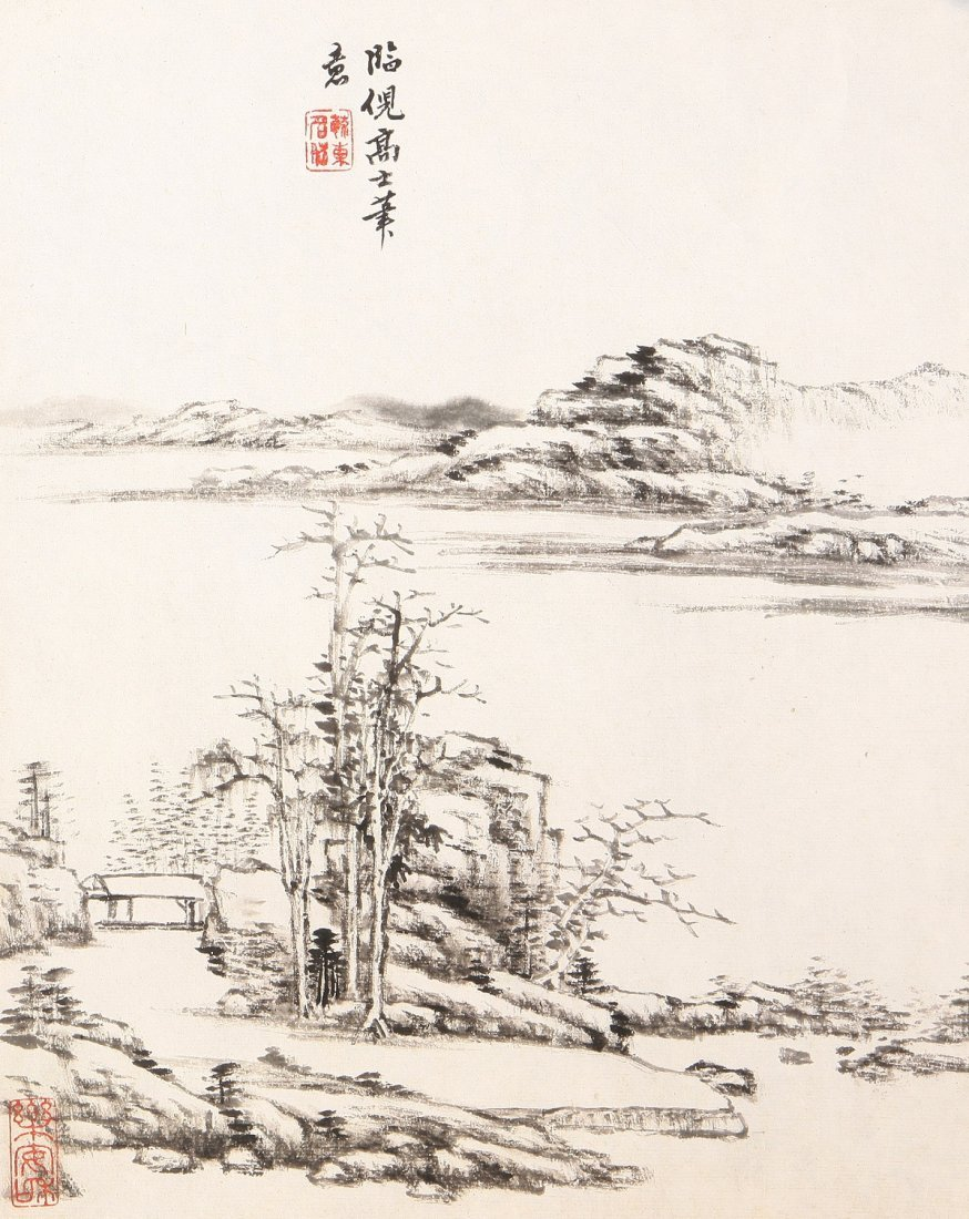 7006A: A very fine Chinese painting by Tang Dai
