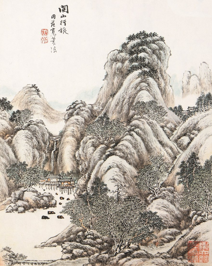 7008A: A very fine Chinese painting by Tang Dai