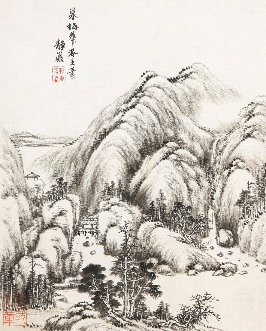 7009A: A very fine Chinese painting by Tang Dai