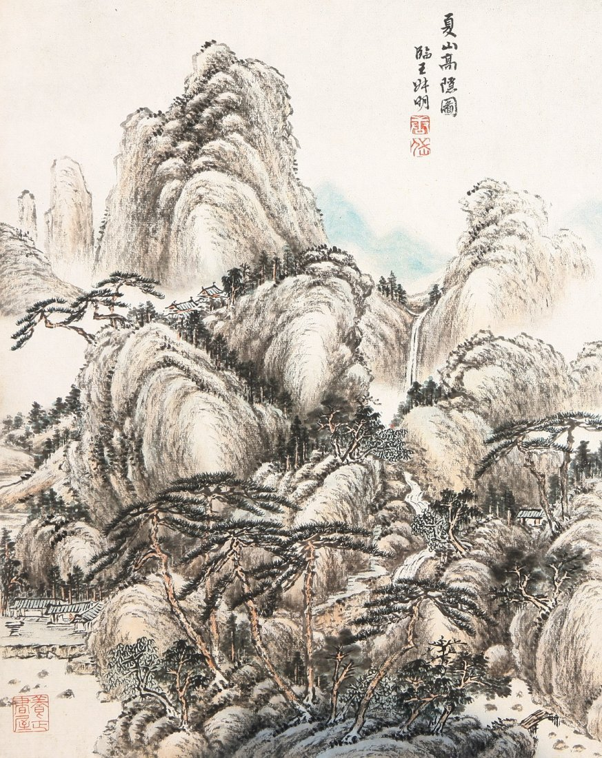 7011A: A very fine Chinese painting by Tang Dai