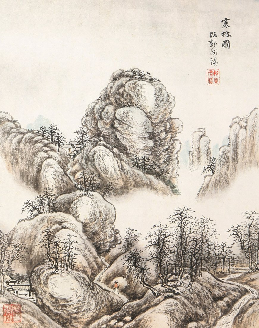 7012A: A very fine Chinese painting by Tang Dai