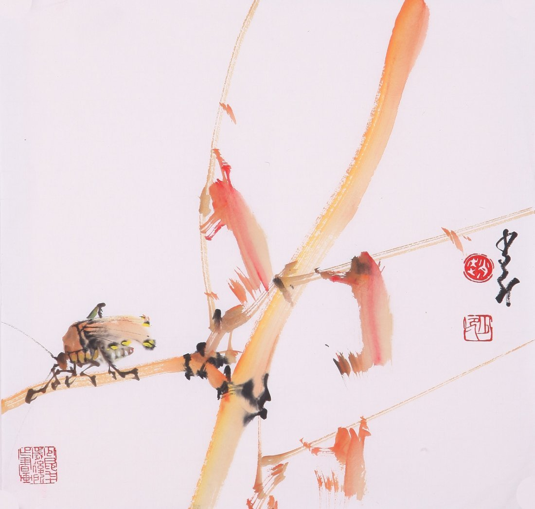 8001: Very fine chinese painting by Zhao Shaoang