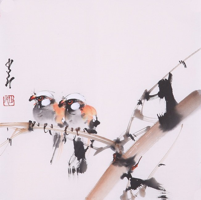 8002: Very fine chinese painting by Zhao Shaoang