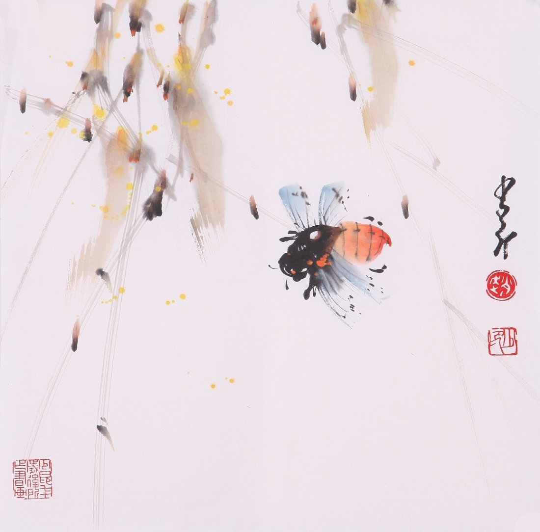 8003: Very fine chinese painting by Zhao Shaoang