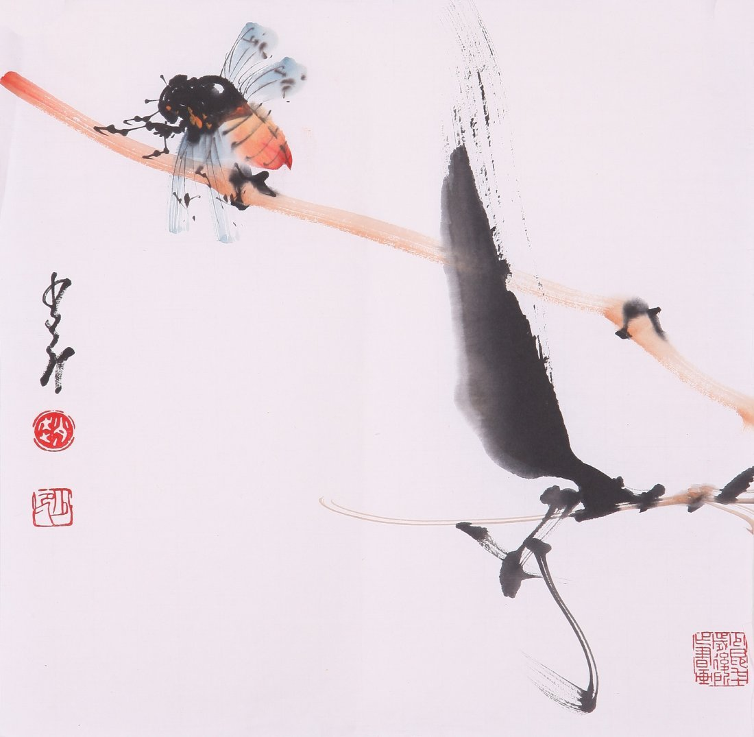8004: Very fine chinese painting by Zhao Shaoang