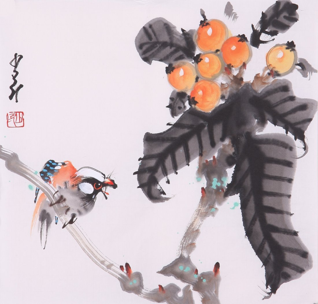 8006: Very fine chinese painting by Zhao Shaoang